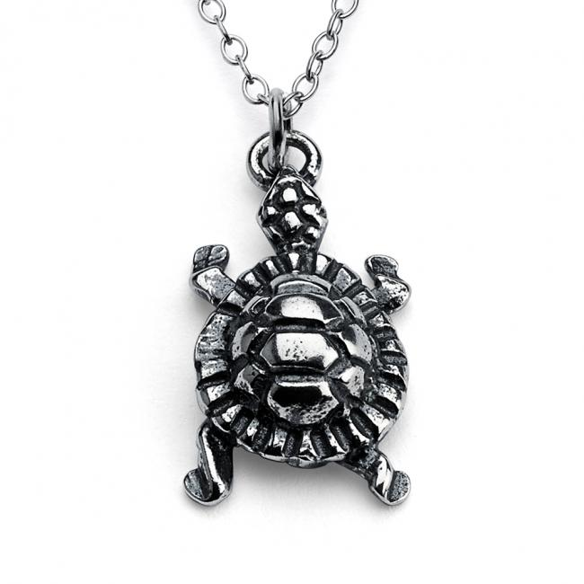 925 sterling silver necklace 3D Cute Turtle Tortoise