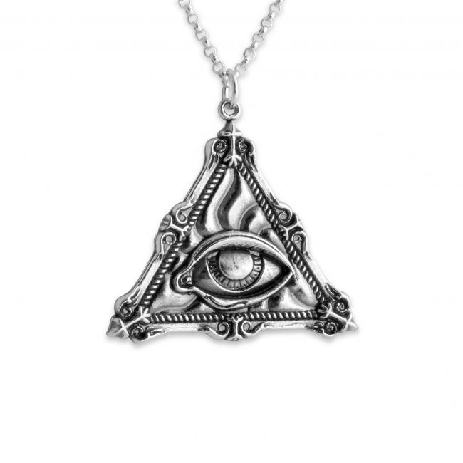 925 sterling silver necklace Illuminati Eye