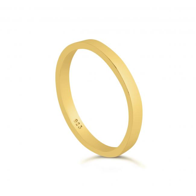 Gold plated ring Stackable Ring
