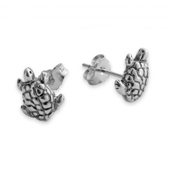 925 sterling silver earrings Tiny Cute Tortoise/ Turtle
