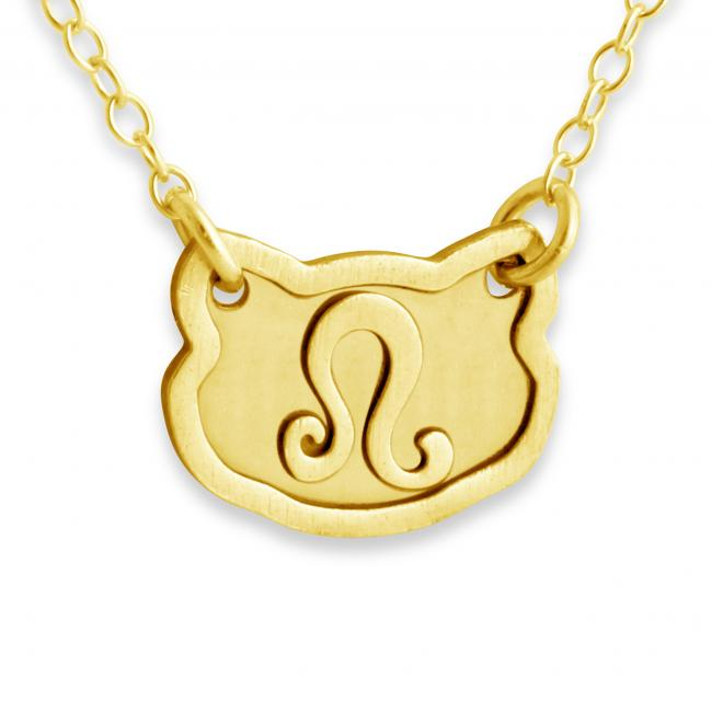 Gold plated necklace Leo Zodiac Sign