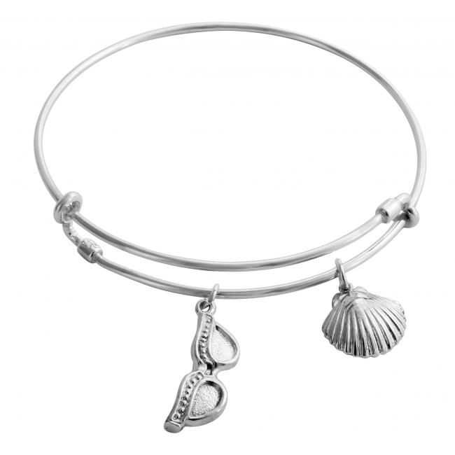 925 sterling silver bracelet Summer Essentials Adjustable Wire Bangle