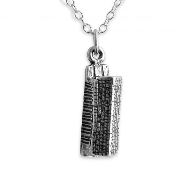 925 sterling silver necklace 3D Longhouse Native American