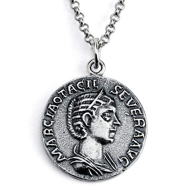 925 sterling silver necklace Replica Otacilia Severa Empress of Rome Ancient COIN