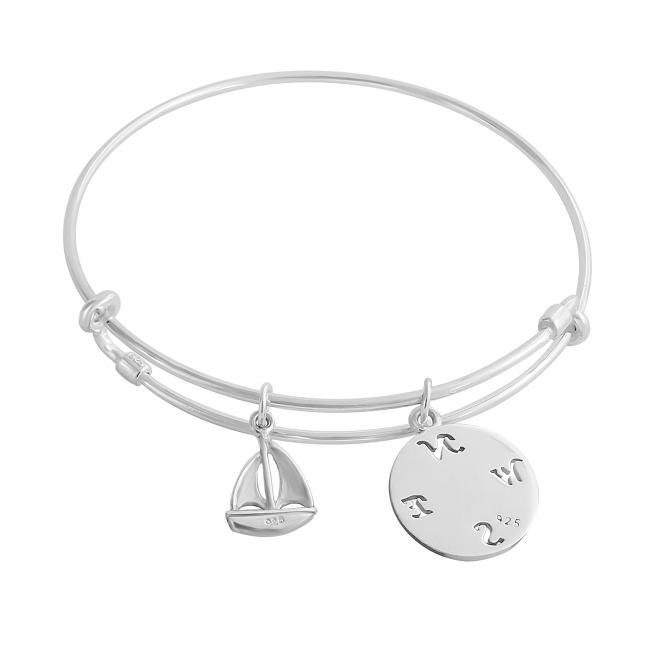 925 sterling silver bracelet Adventurous Spirit Adjustable Wire Bangle
