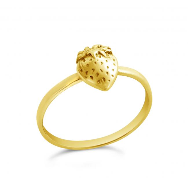Gold plated ring Strawberry