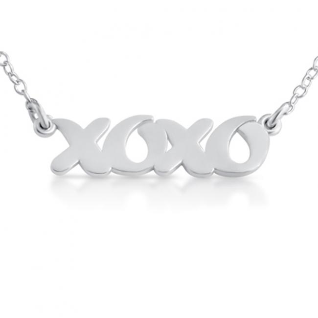 925 sterling silver necklace XOXO (Script Word)