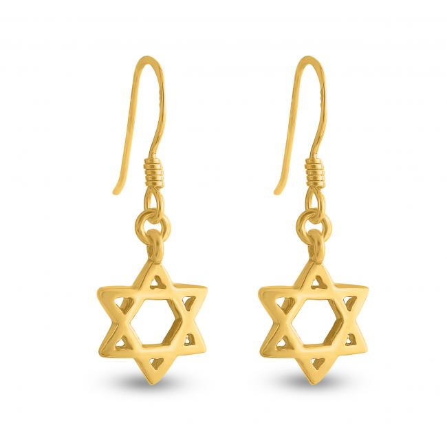 Gold plated earrings Star of David