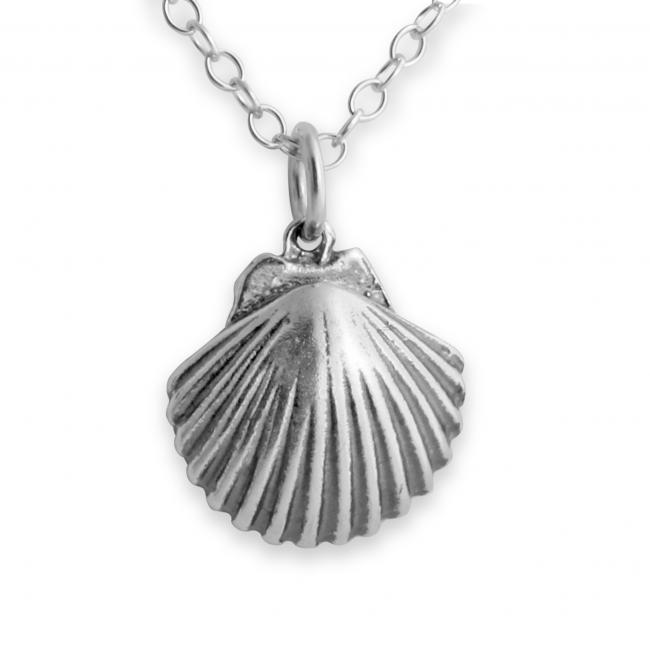 925 sterling silver necklace Scallop Seashell Clam Sea Shell