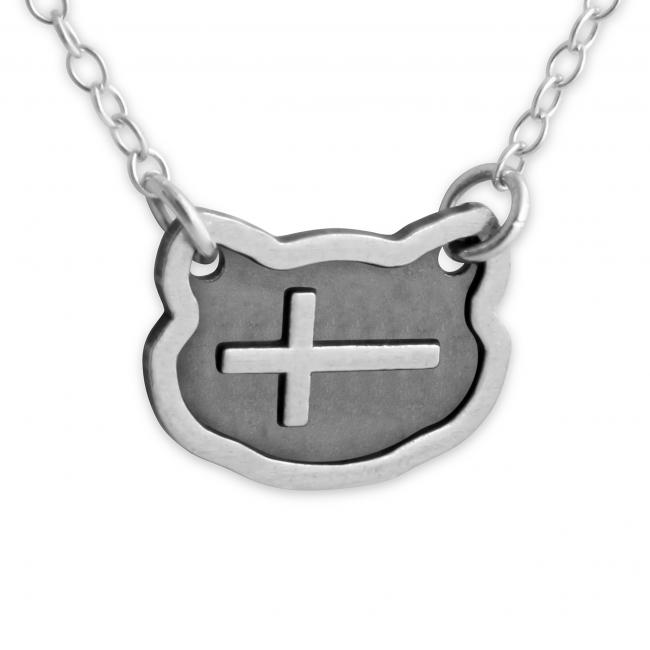 925 sterling silver necklace Sideways Cross
