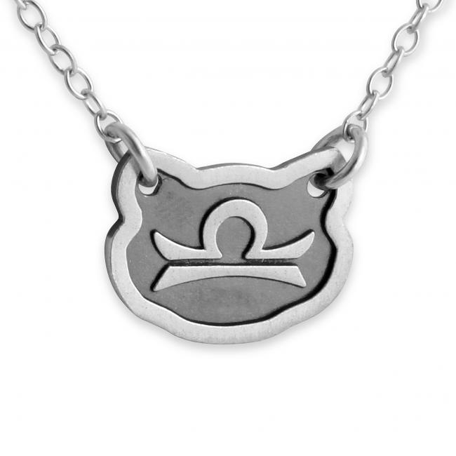 925 sterling silver necklace Libra Zodiac Sign