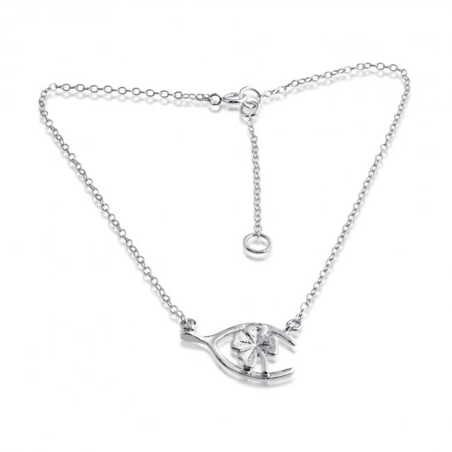 lucky charm shed g pendant necklace pearl