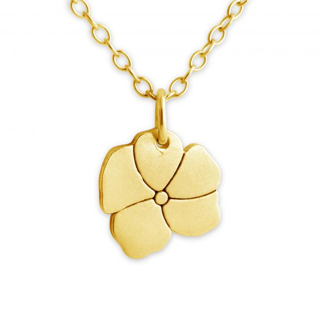 Gold plated necklace Blooming Flower