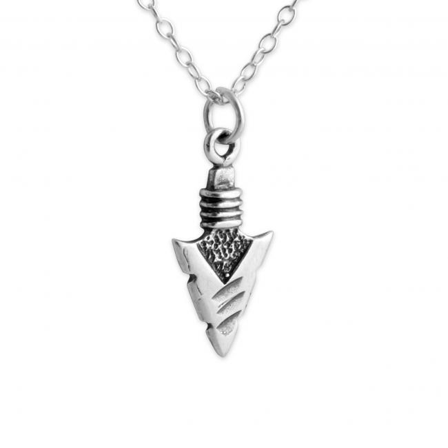 925 sterling silver necklace Arrowhead