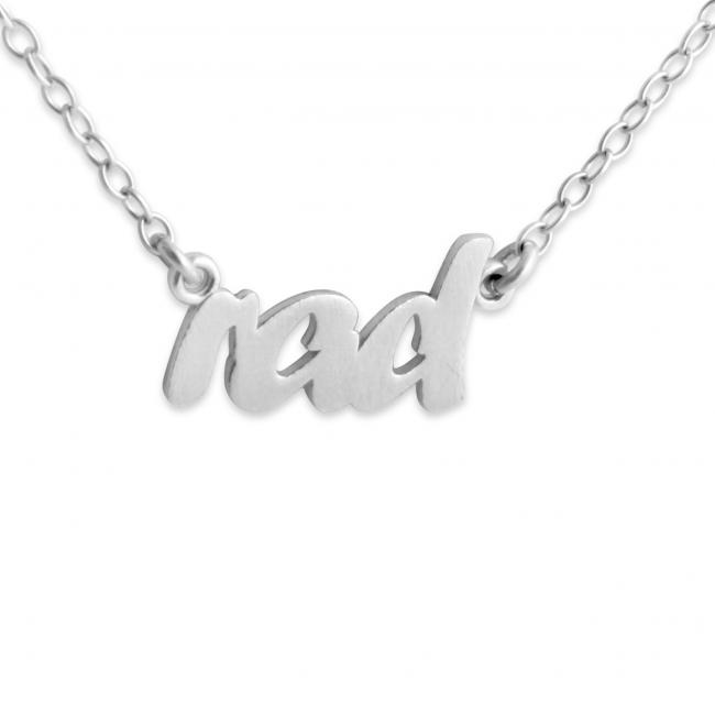925 sterling silver necklace RAD (Script Word)