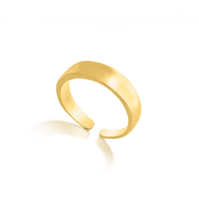 Gold plated ring Plain Tapered Adjustable Toe Ring