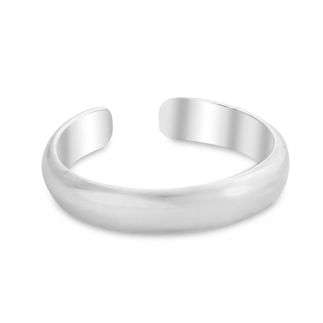 925 sterling silver ring Plain Curved Adjustable Toe Ring