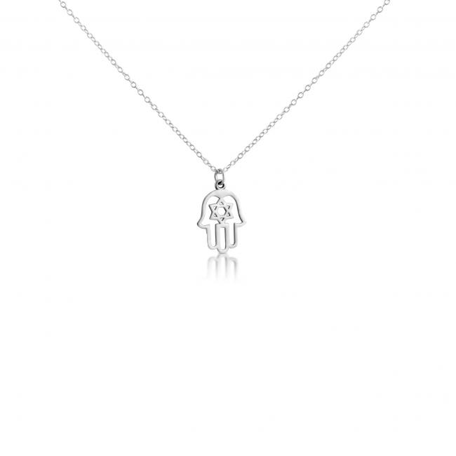 925 sterling silver necklace Judaica Hamsa