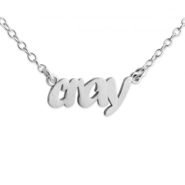 925 sterling silver necklace CRAY (Script Word)