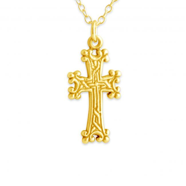 Gold plated necklace Armenian Cross