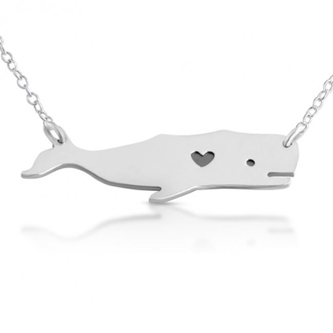 925 sterling silver necklace Love Whale