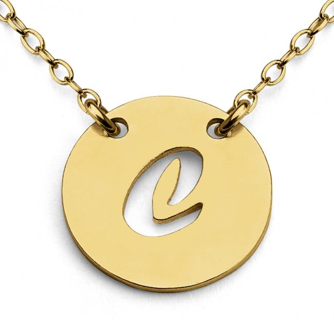 Gold plated necklace C Open Letter