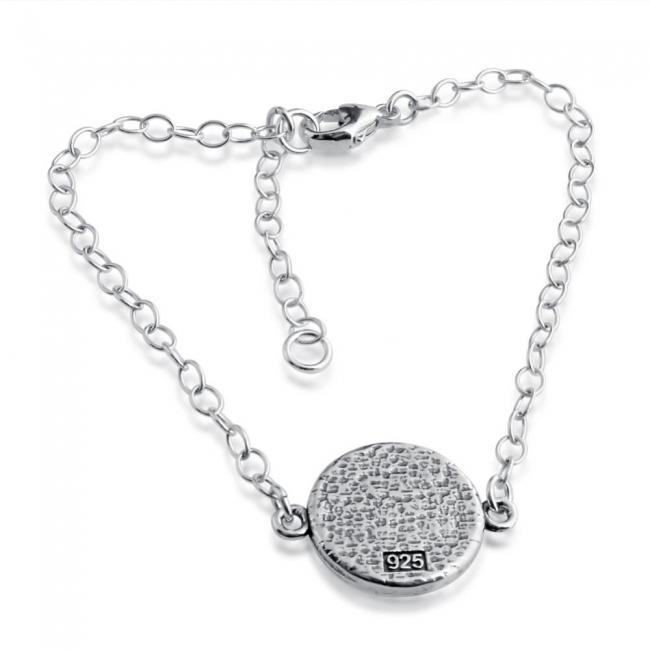 925 sterling silver bracelet <strong>Illuminati</strong> Circle