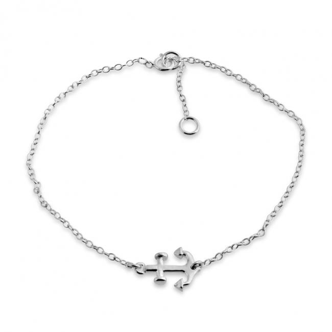 925 sterling silver bracelet Sideways Anchor