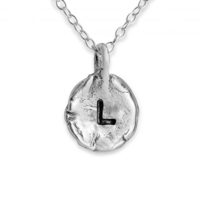 925 sterling silver necklace Letter L Passion Initial