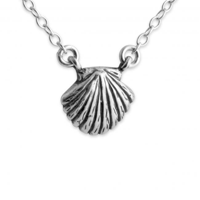 925 sterling silver necklace Seashell Jump Ring Necklace