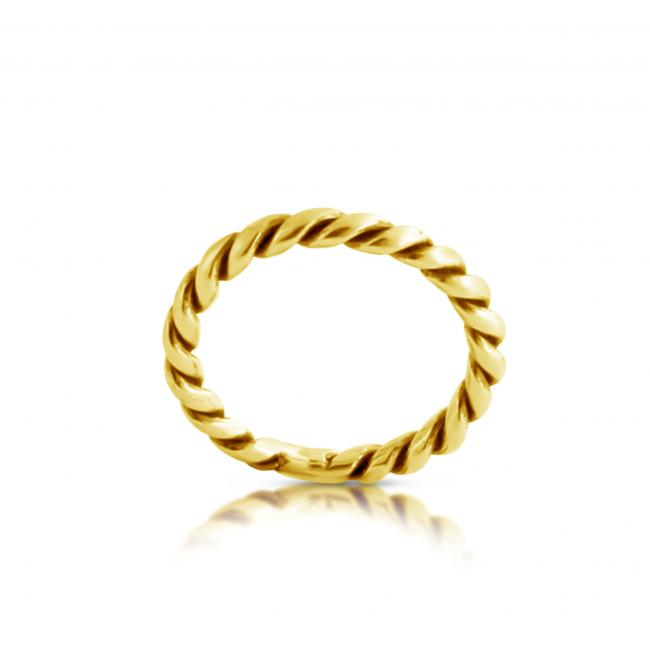 Gold plated ring Braided Ring
