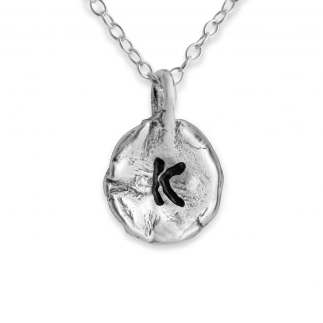 925 sterling silver necklace Letter K Passion Initial