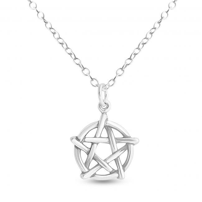 925 sterling silver necklace Pentagram Pentacle Star