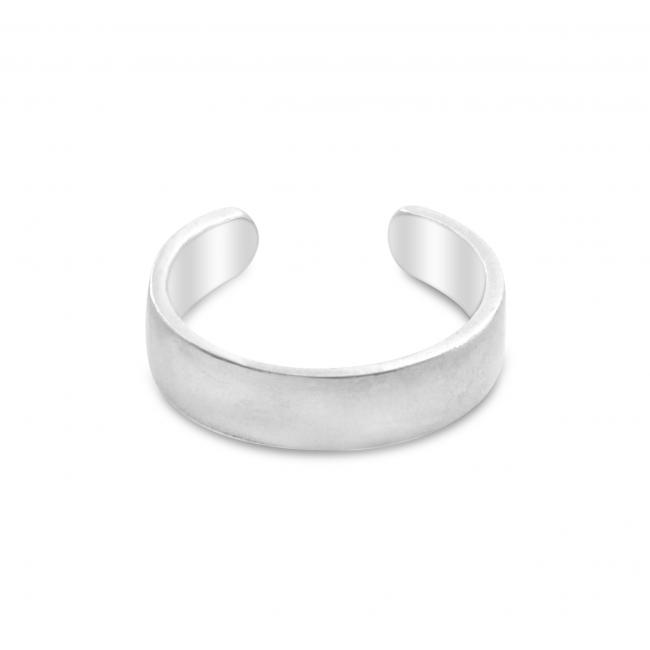 925 sterling silver ring Plain Straight Adjustable Toe Ring