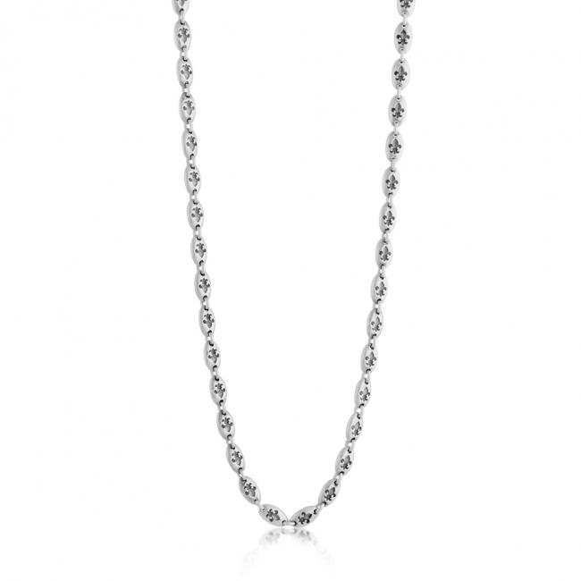 925 sterling silver necklace Fler de Lis Chain