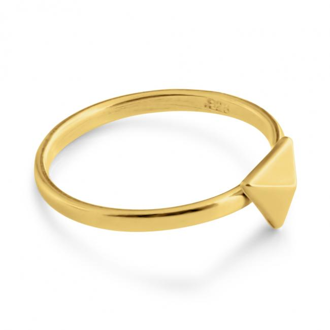 Gold plated ring Triangle
