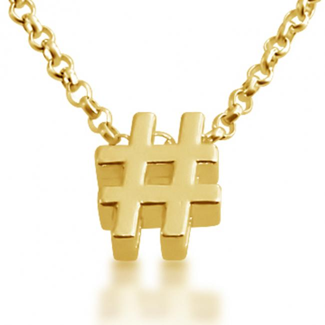 Gold plated necklace Initial Letter # Personalized Symbols & Letters Serif Font