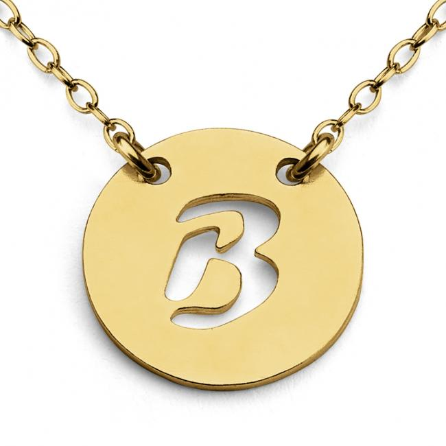 Gold plated necklace B Open Letter