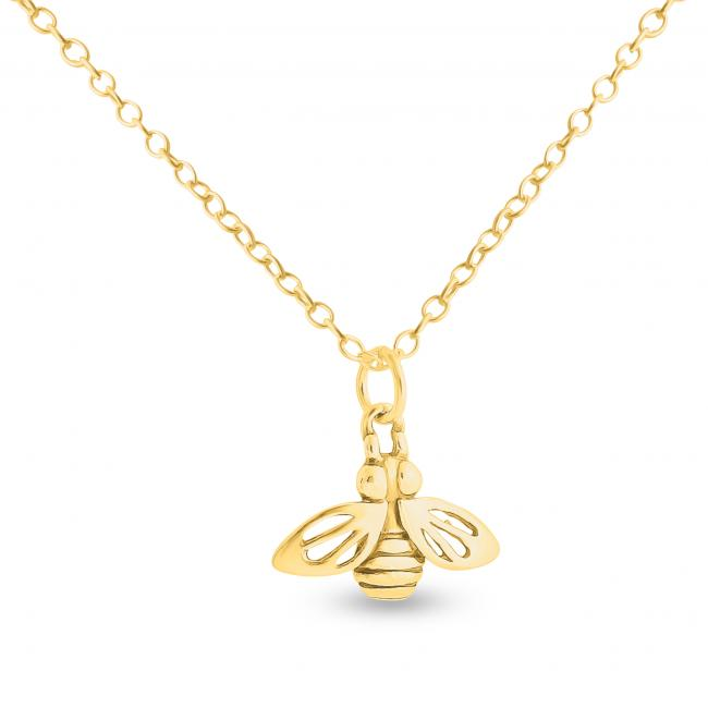 Gold plated necklace Honey Worker Bee