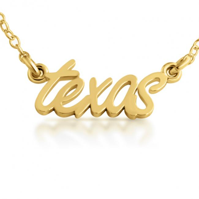 Gold plated necklace Texas State