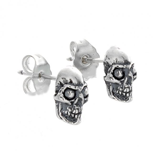 925 sterling silver earrings Skull