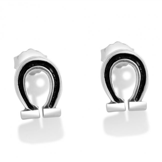 925 sterling silver earrings Horseshoe