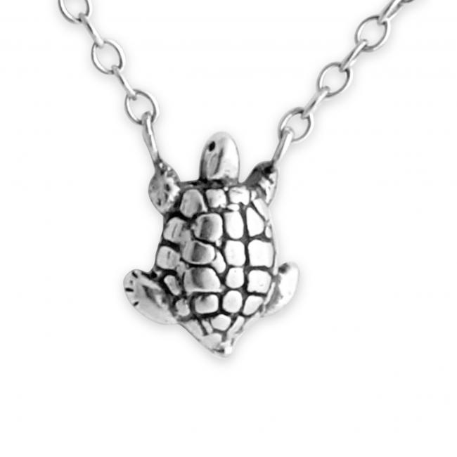 925 sterling silver necklace Turtle Jump Ring Necklace