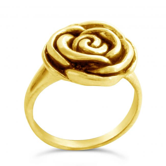 Gold plated ring Rose