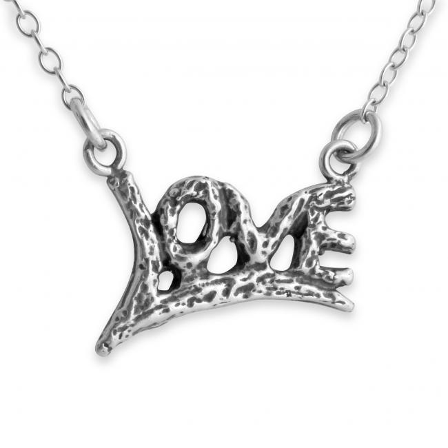 925 sterling silver necklace LOVE