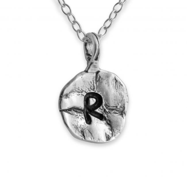 925 sterling silver necklace Letter R Passion Initial