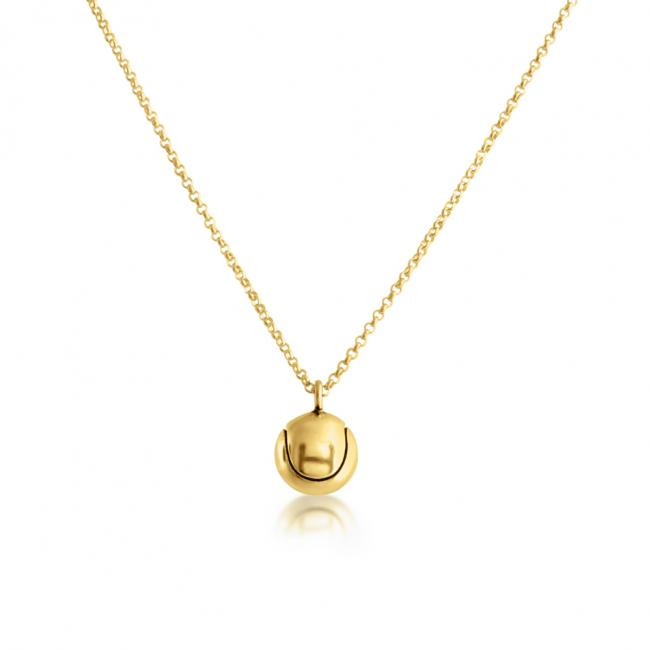 Gold plated necklace Tennis Ball Sport