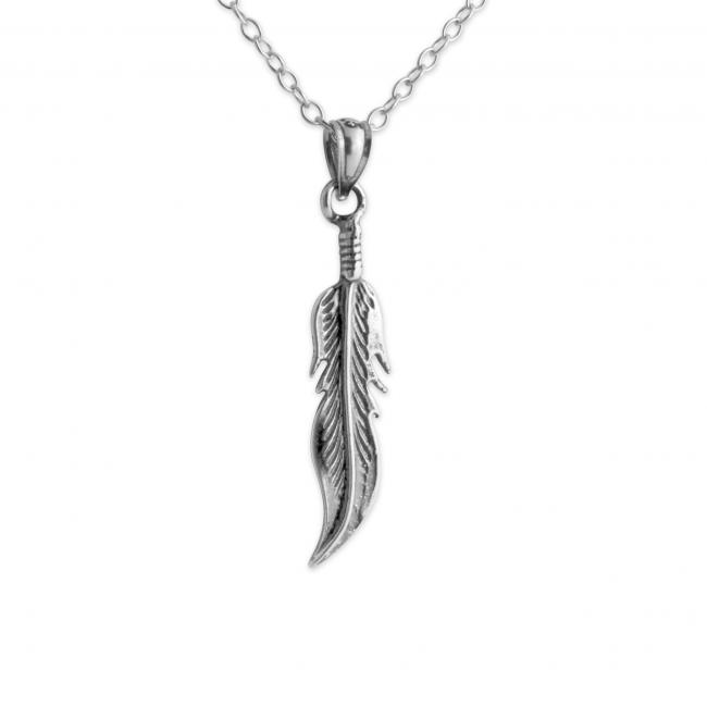 925 sterling silver necklace Little Feather