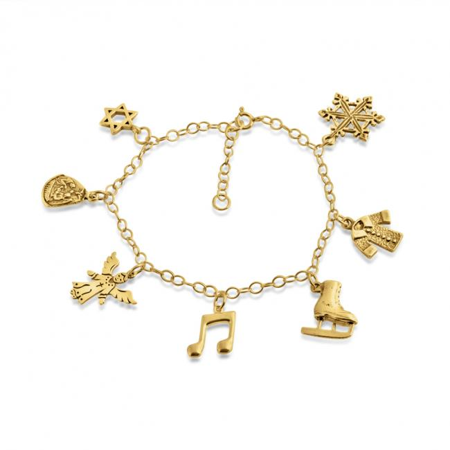 Gold plated bracelet Happy Holidays