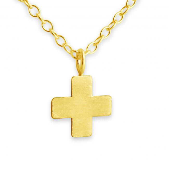 Gold plated necklace Greek Cross